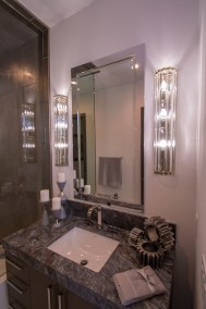 Close-Up of Custom Bathroom Mirror