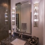 Close-Up of Custom Bathroom Mirror