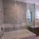 Full-View of Frameless Shower Door Enclosure