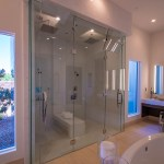 His and Her Custom Glass Shower Door Enclosure System