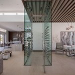 Straight View of Custom Wine Cellar - A Cutting Edge Glass and Mirror