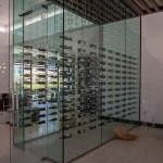 The Finished Custom Wine Cellar - A Cutting Edge Glass and Mirror