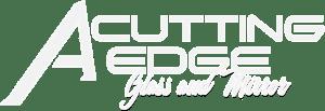 A Cutting Edge Glass & Mirror Official Brand Logo - White