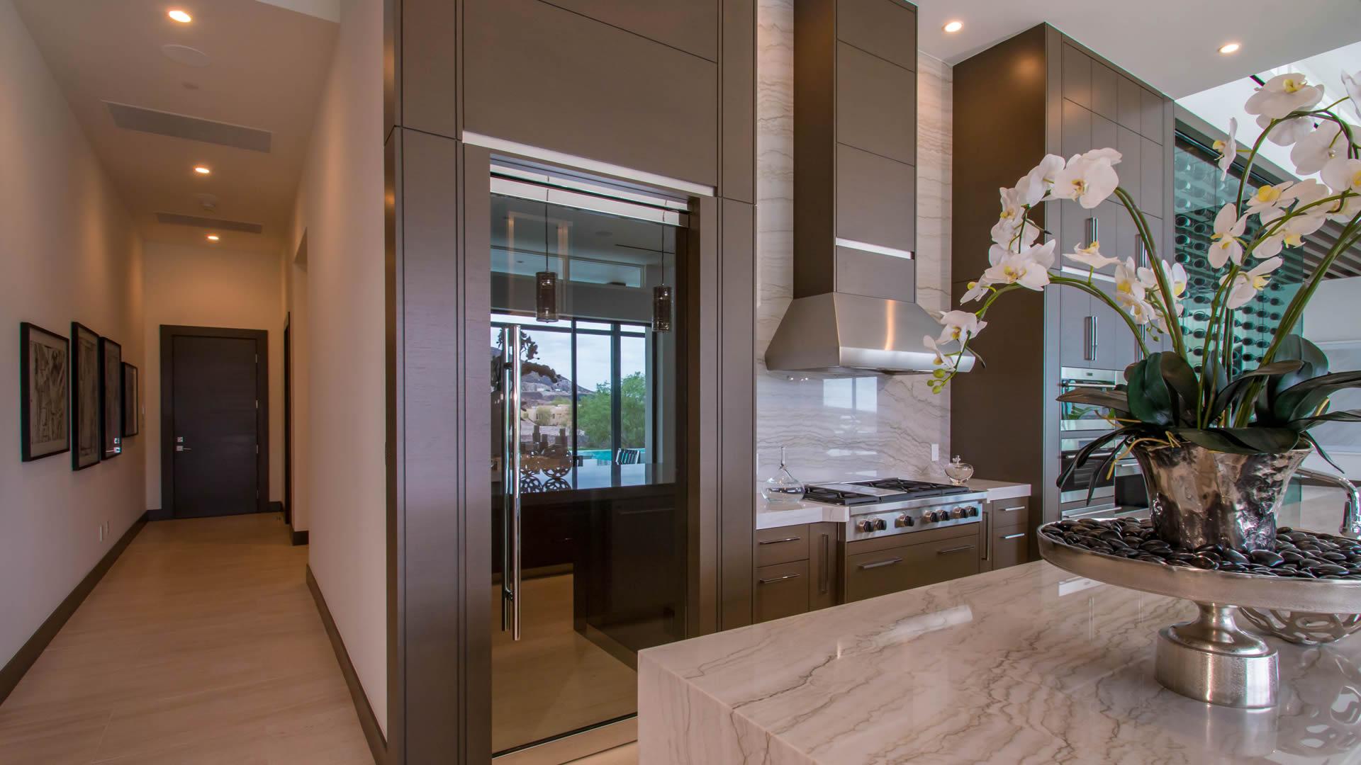 Glass Pantry Door   Sunwest Custom Home Glass