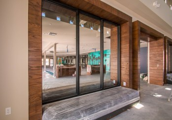 During Construction of Castile Apartments Clubhouse - Interior Glass Windows