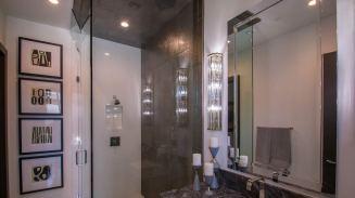 Custom Shower Door Enclosure System - Sunwest Custom Homes of Las Vegas, Nevada
