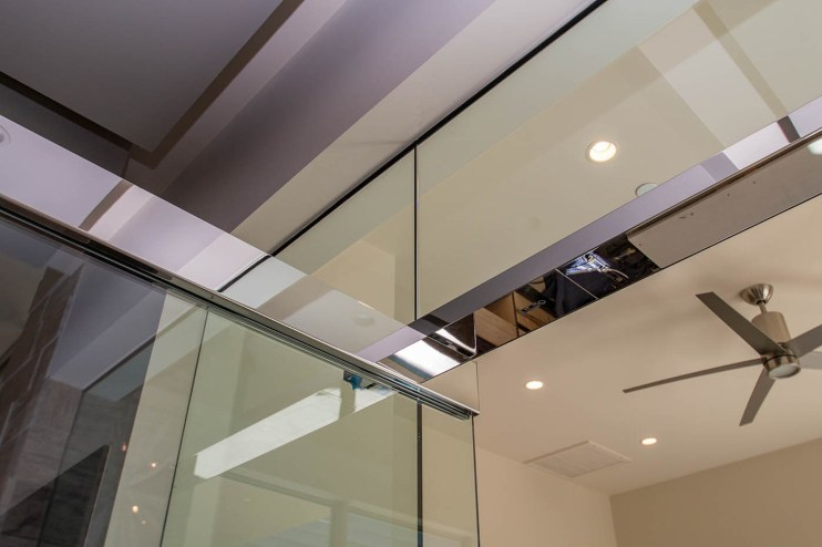 Close-up of Heavy Glass Wall & Door System
