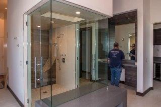 Double Walk-in Shower Door Enclosure System - Sunwest Custom Homes