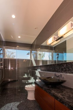 Frameless Shower Door Enclosure System with Mirrors
