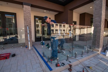 Vue at Centennial Apartments - Custom Concealed Glass Barrier System by A Cutting Edge Glass & Mirror