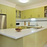 Laminate kitchen with Caesarstone bench top
