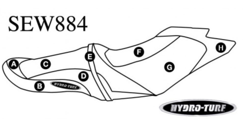 Hydro-Turf Seat Cover For Sea-Doo GTS 130 / GTI (11-17