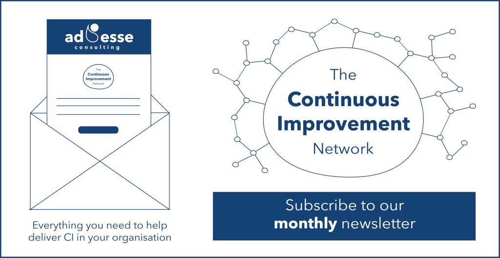 Ad Esse's The Continuous Improvement Network newsletter sign up