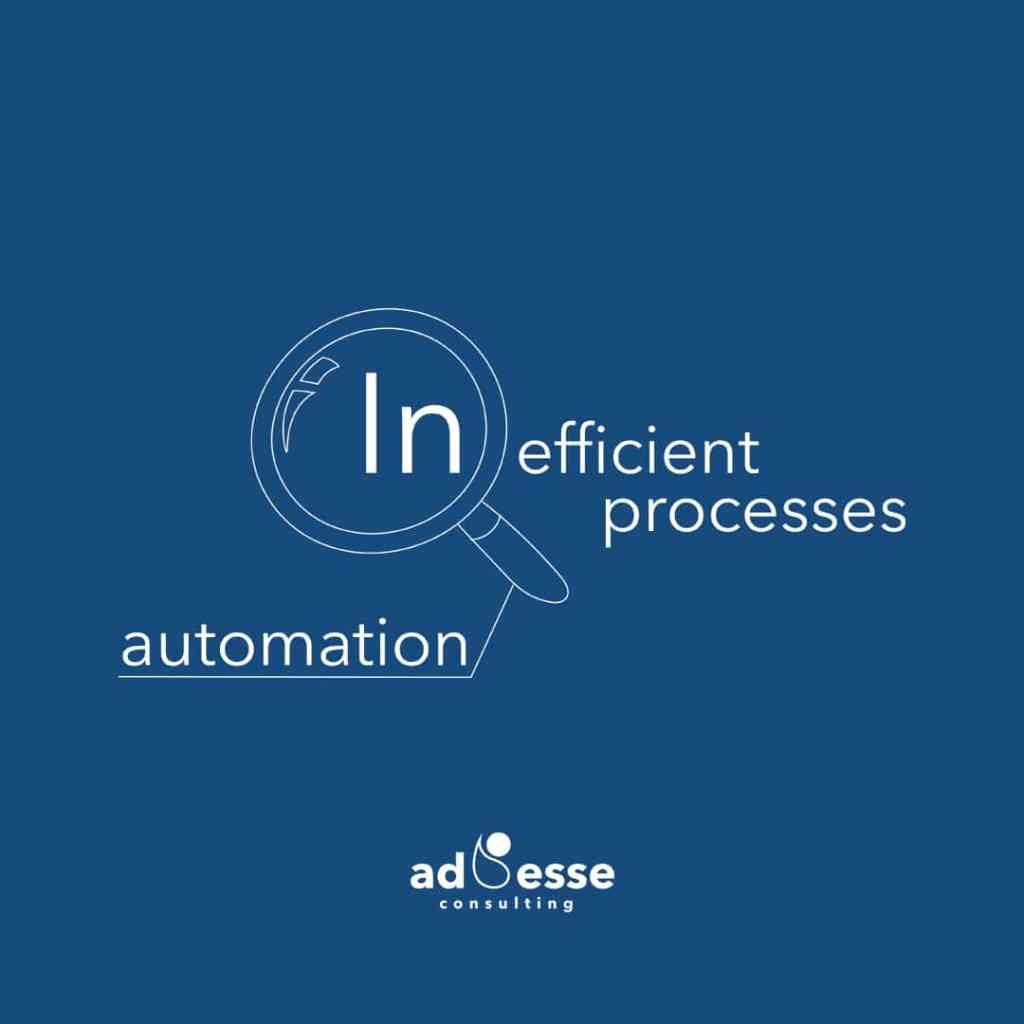 Automating inefficient processes will magnifying inefficiencies in a digital transformation