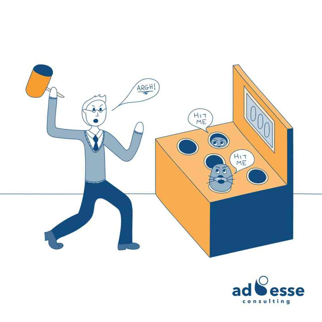 Whack a mole approach to transformation Ad Esse Consulting
