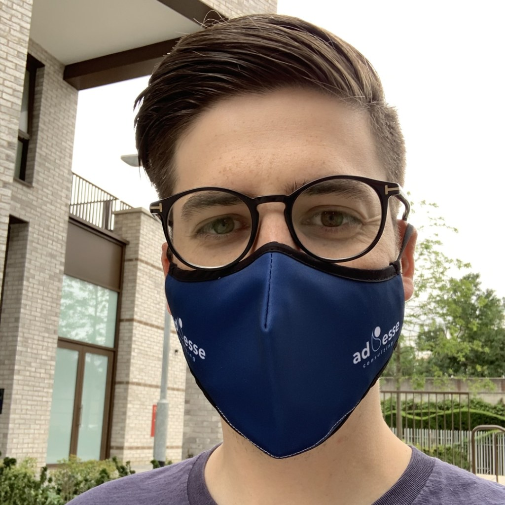 Ad Esse Consulting mask selfie by Stoffer Bruun, Consultant