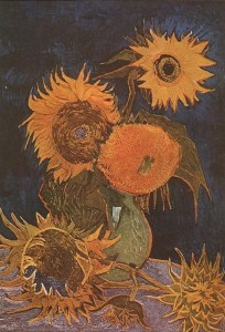 Vincent van Gogh - Still Life Vase With Five Sunflowers