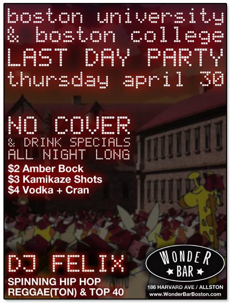 Wonder Bar  The Kells Events with DJ Felix  Allston