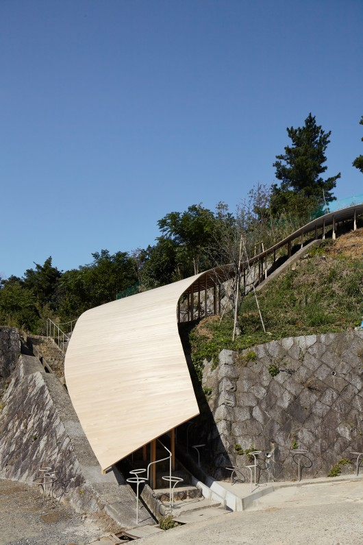 The Roof & Mushrooms Pavilion at Kyoto University of Art and Design
