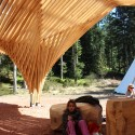 Creation of a Forest Shelter at Bertrichamp / Studiolada Architectes + Yoann Saehr Architect © Christophe Aubertin