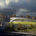 Allied Works Releases Design for Ohio Veterans Memorial and Museum in Columbus Bridge View. Image © Allied Works Architecture