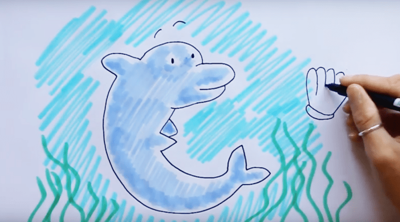 Draw the cutest dolphin with our how-to guide!