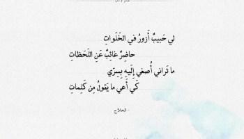 شعر الحلاج - لي حبيب أزور في الخلوات