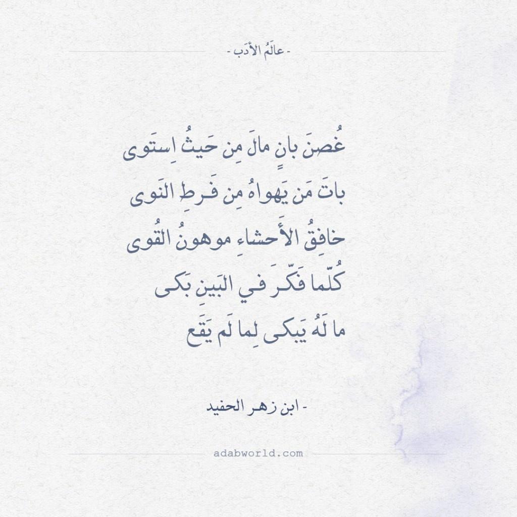 ابن زهر - قصيدة أيها الساقي إليك المشتكى