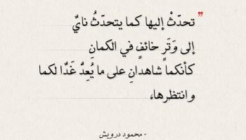 اقتباسات محمود درويش - تحدث إليها