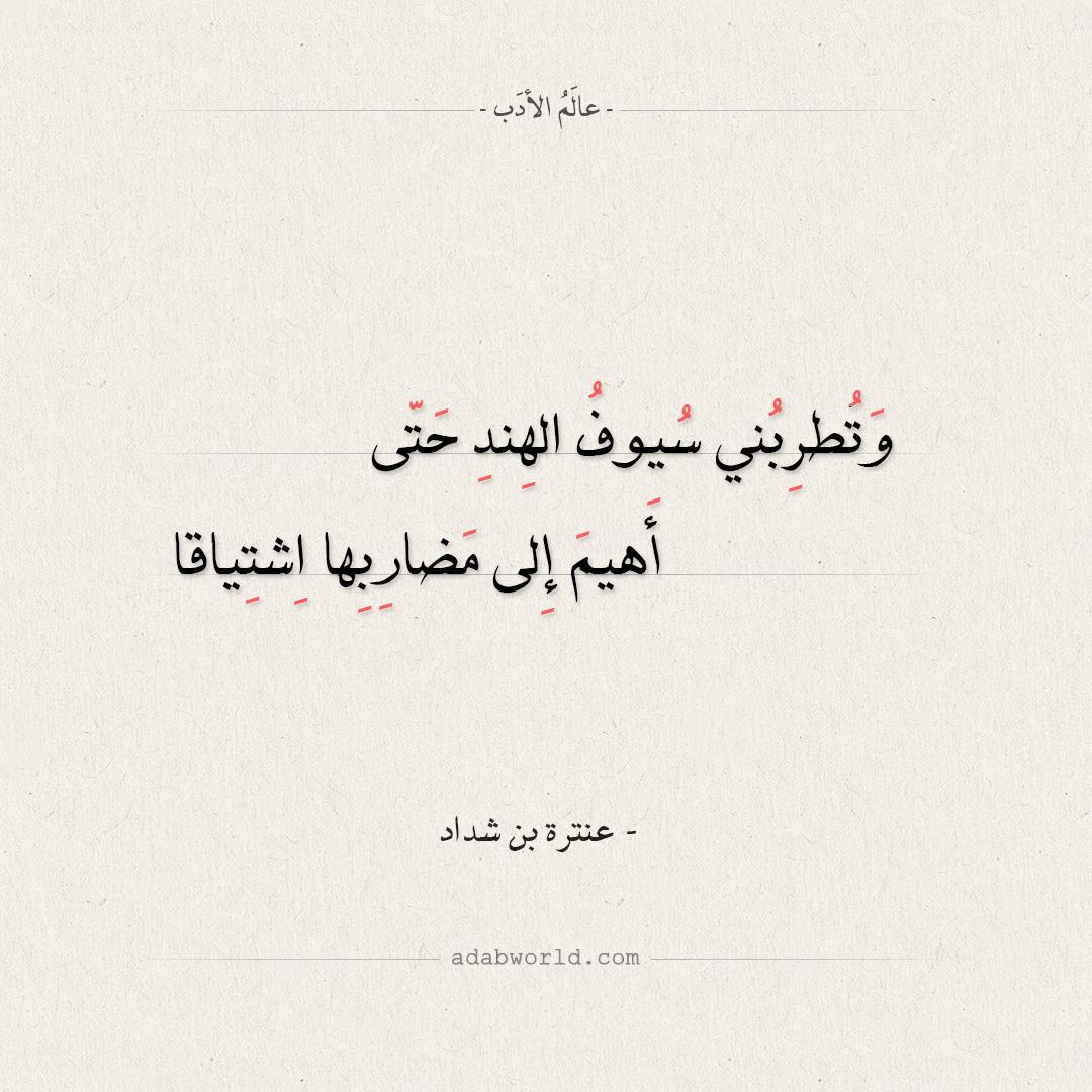 أهيم إلى مضاربها اشتياقا - عنترة بن شداد