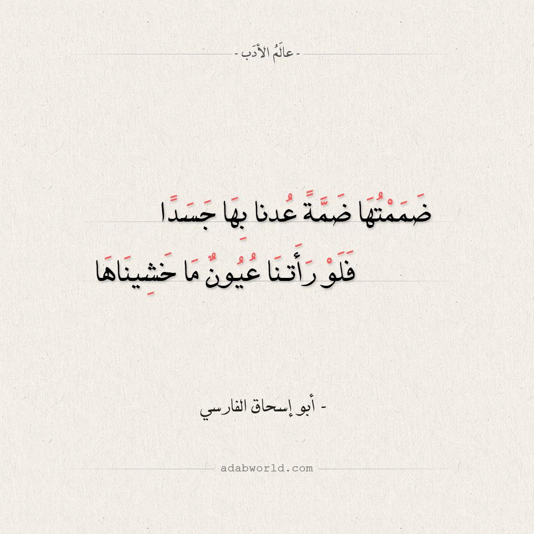 شعر أبو إسحاق الفارسي - ضممتها ضمة عدنا بها جسداً