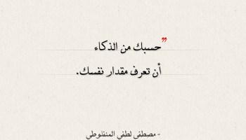 أقوال مصطفى لطفي المنفلوطي - حسبك من الذكاء