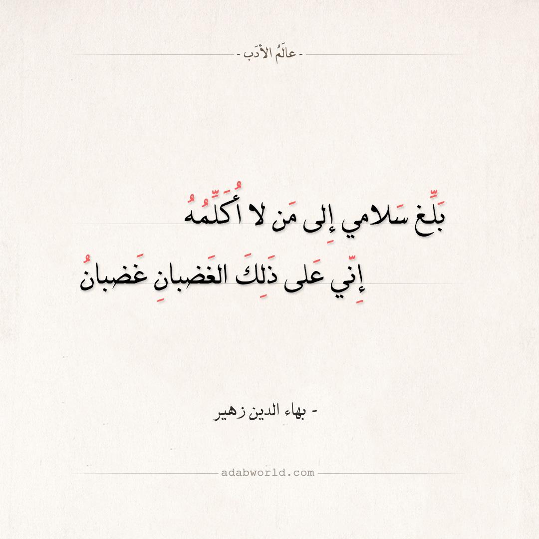شعر بهاء الدين زهير - بلغ سلامي إلى من لا أكلمه