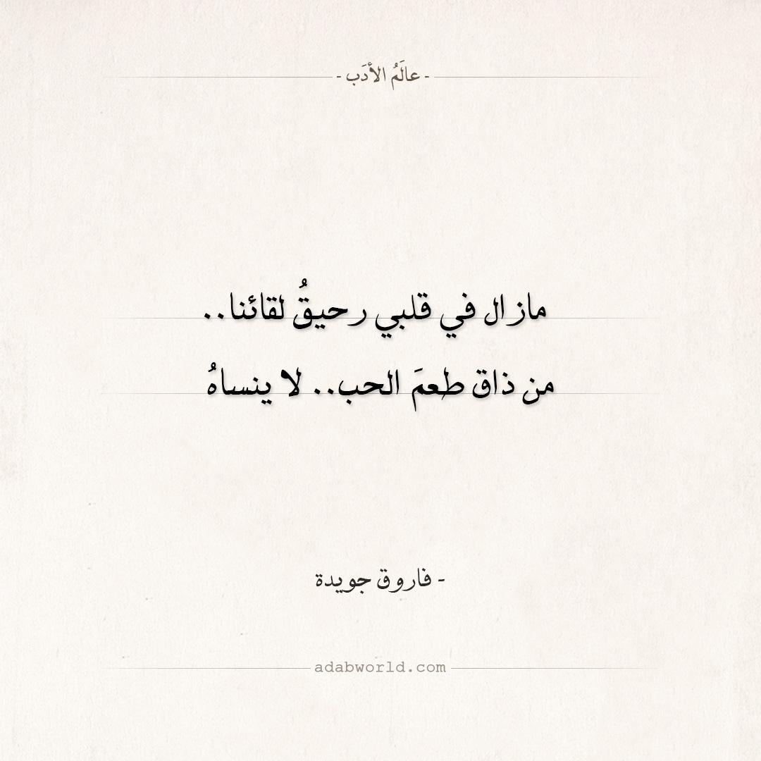 اقتباسات فاروق جويدة - طعم الحب