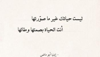 شعر إيليا أبو ماضي - أنت الحياة بصمتها ومقالها