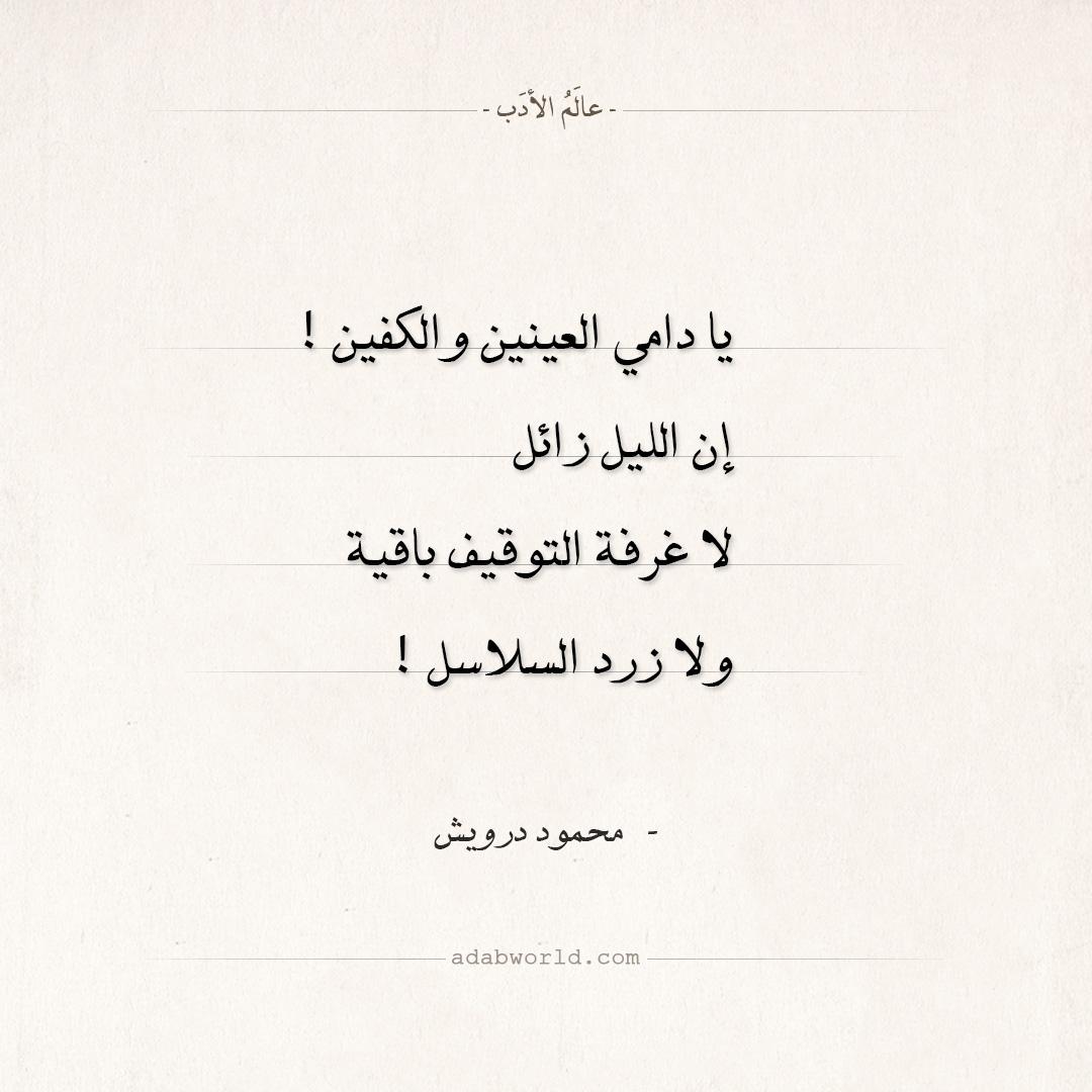 شعر محمود درويش - يا دامي العينين والكفين