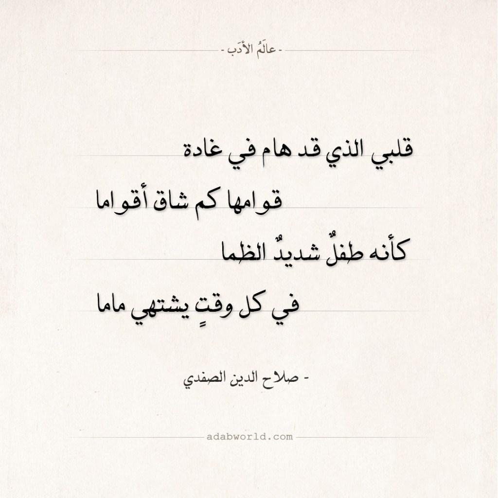 شعر صلاح الدين الصفدي - في كل وقت يشتهي ماما
