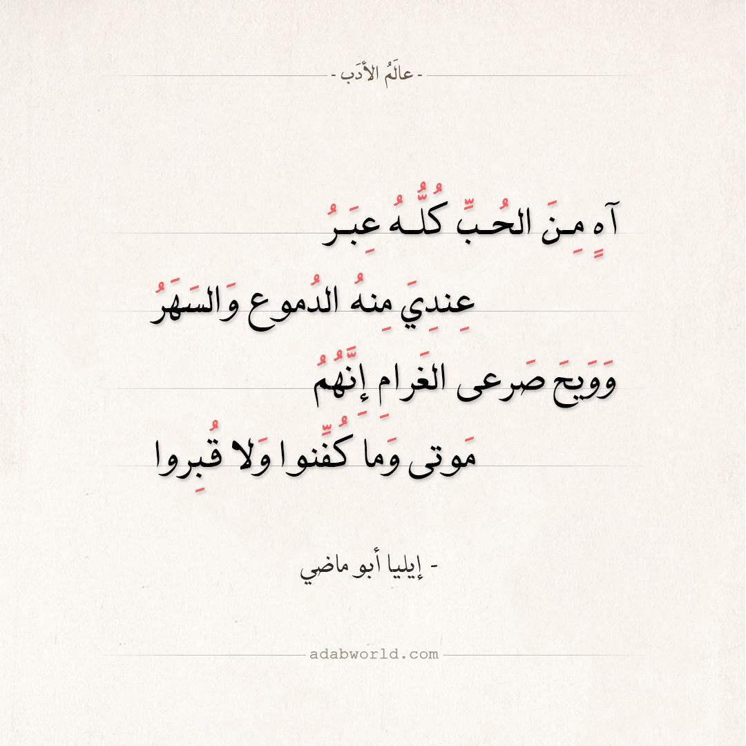 شعر إيليا أبو ماضي - وويح صرعى الغرام إنهم