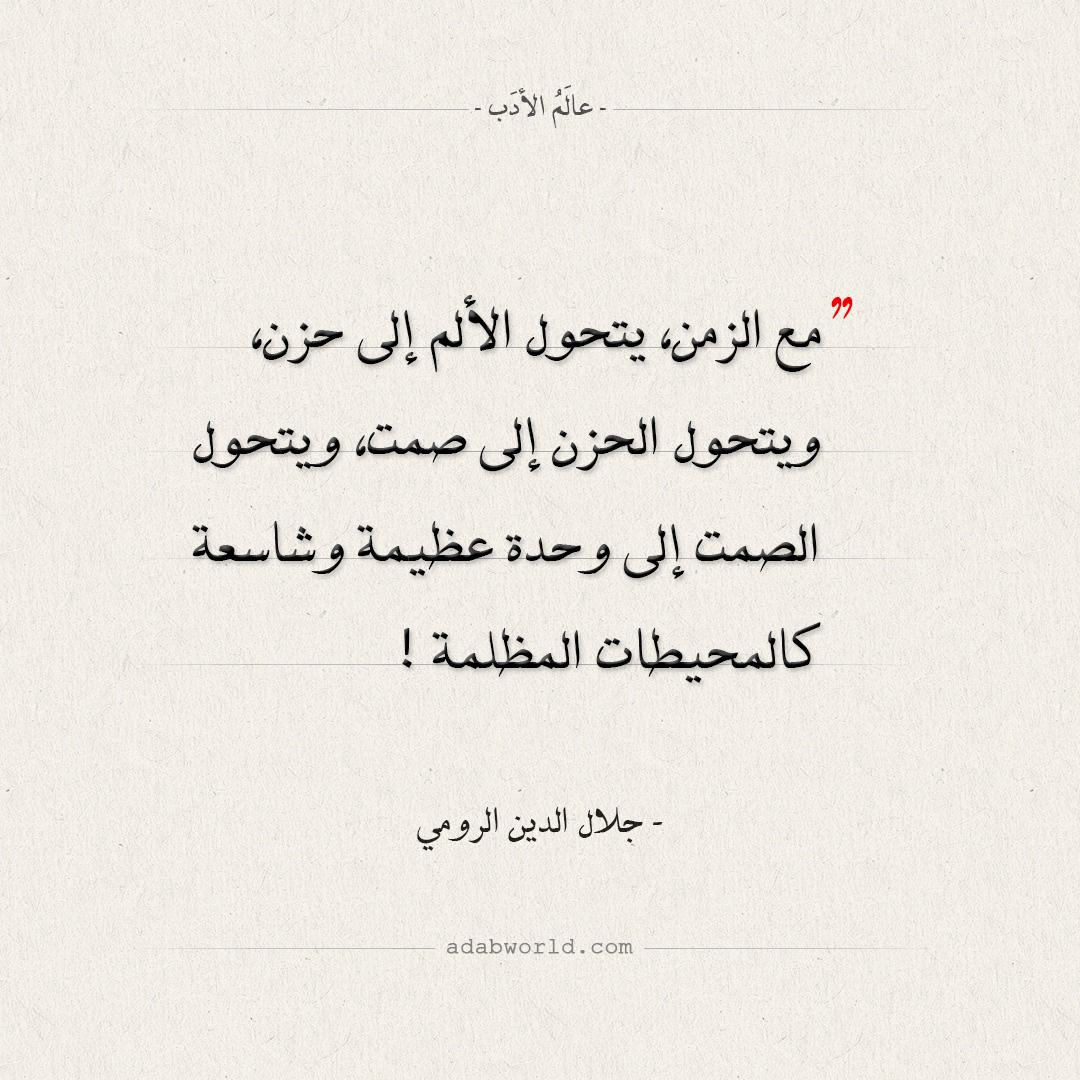 اقتباسات جلال الدين الرومي - من الألم إلى الوحدة