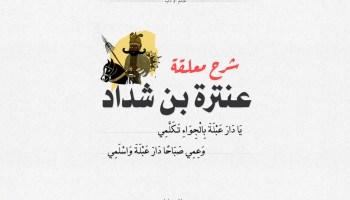 شرح معلقة عنترة بن شداد - هل غادر الشعراء من متردم