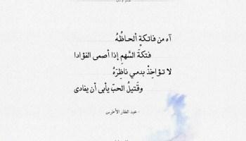 شعر عبد الغفار الأخرس - اه من فاتكة ألحاظه