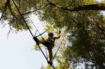 Vogelperspektive: Outdoor-Training im Adventure Camp Schnitzmühle.