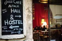 Das Gewölbe des Jazz-Cafés Alface Hall