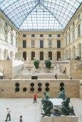 Kunstfertig: Blick auf die Skulpturensammlung des Louvre im Lichthof.