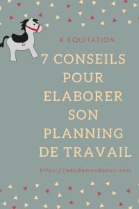 equitation conseils planning travail