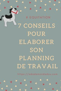 equitation conseils planning travail