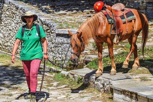 cheval cavalier randonnee