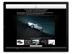 A Pointroll iPad campaign for Ford's Lincoln brand.