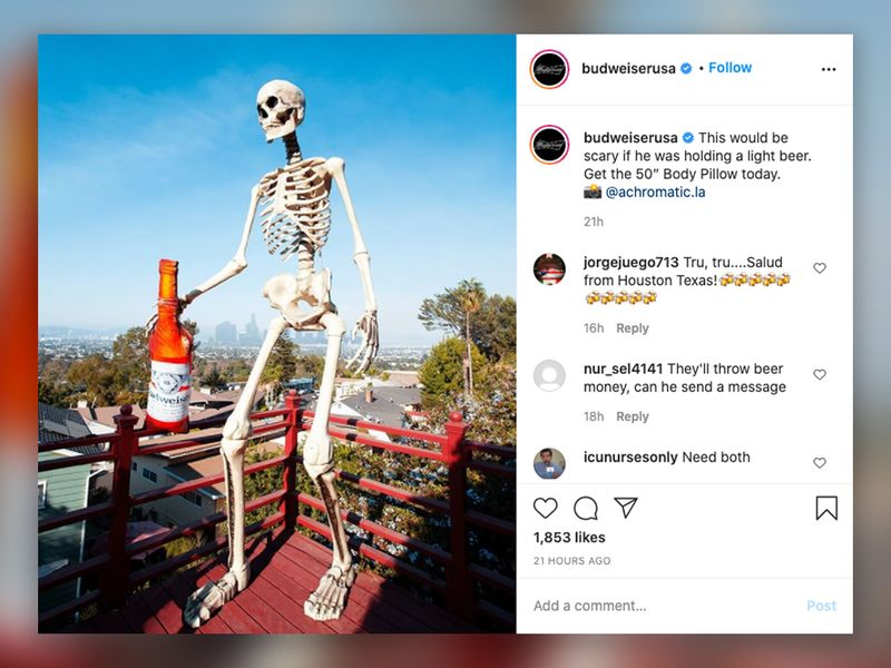 Home Depot S Sold Out Giant Halloween Skeletons Creep Into Brands Social Feeds Zitrod Guest Post