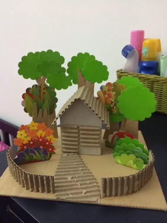 Miniatur Dari Karton : miniatur, karton, Membuat, Miniatur, Rumah, Kertas, Karton
